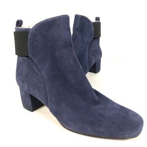 nine west suede leather ankle boots blue black